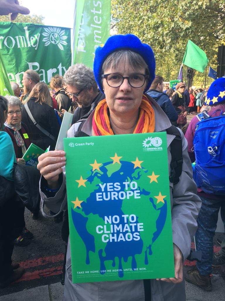 Molly with EU banner