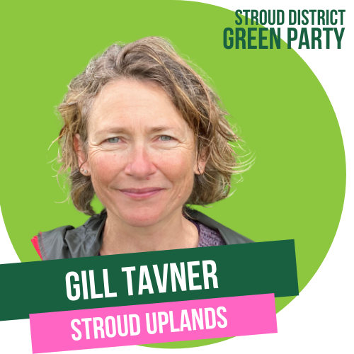 Gill Tavner - town council candidate for Stroud Uplands