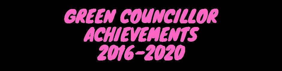 green councillor achievements