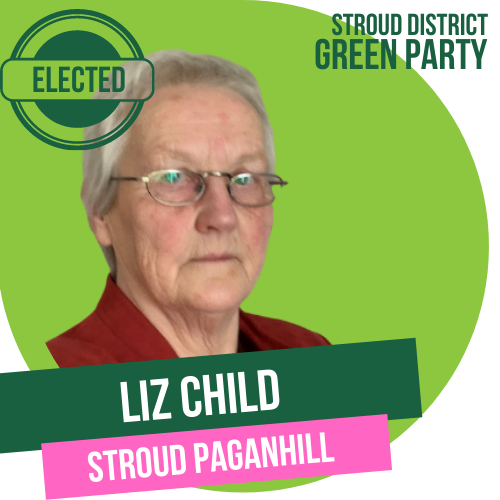 Liz Child has been elected as Stroud Town Councillor for Stroud Paganhill