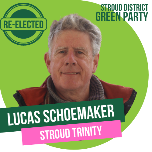 Lucas Schoemaker has been re-elected as Town Councillor for Stroud Trinity