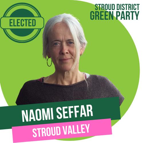 Naomi Seffar has been elected as Town Councillor for Stroud Valley