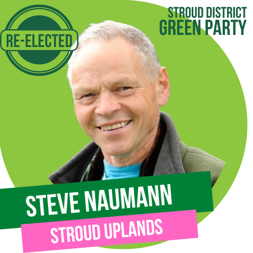Steve Naumann has been re-elected as Town Councillor for Stroud Uplands