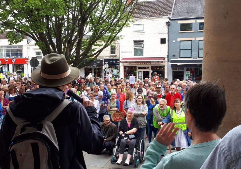 Peaceful protests like this one in Stroud in 2019 could be outlawed under the new Bill.